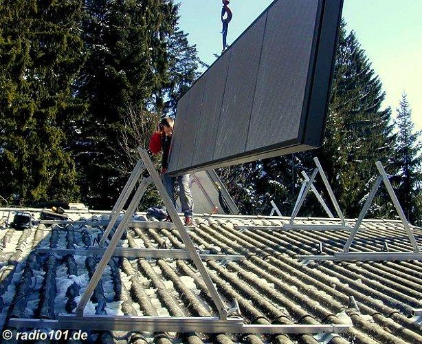 Sonnenkollektor  (click to enlarge - anklicken zum Vergößern)