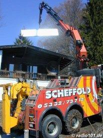 Solarkollektoren: Installation / Montage (anklicken zum Vergößern)
