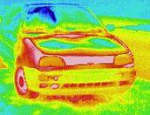 Wärmebild / Thermografie: VW Golf 3 - PKW