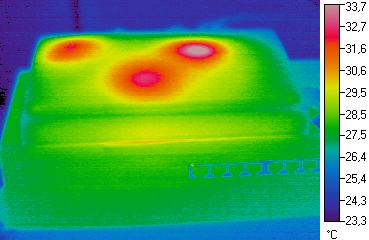 Thermographic image / heat radiation of a router