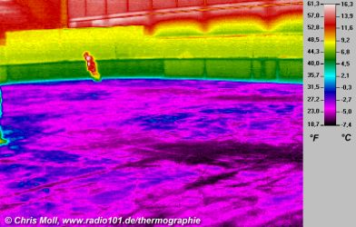 thermal image of an ice skating rink