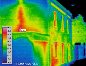 Thermal Infrared house pics / infrared camera picture (click to enlarge) - imaging Camera: Impac IVN 770P