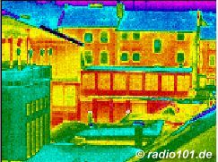 heat radiation / infra red pictures of houses