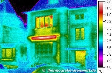 Thermography: thermal image of a house