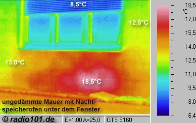 Thermal Infrared house pics: heat radiation: poor thermal insulation, thermal image