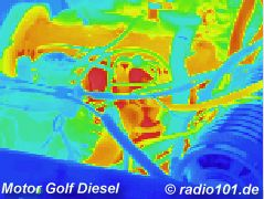 Motoeur infrarouge image / thermographic photography / thermal picture: Automotor