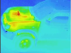 Thermographic picture - Infrarouge photograph: off-road car