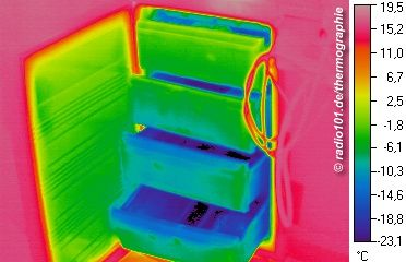 Thermography / thermal image: refrigerator / deep feeezer