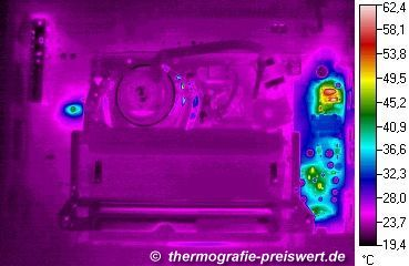 Thermographic image of a Videorecorder